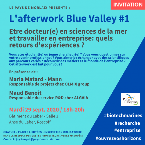 L'afterwork Blue Valley #1 : rendez-vous mardi 29 septembre à 18h à Roscoff